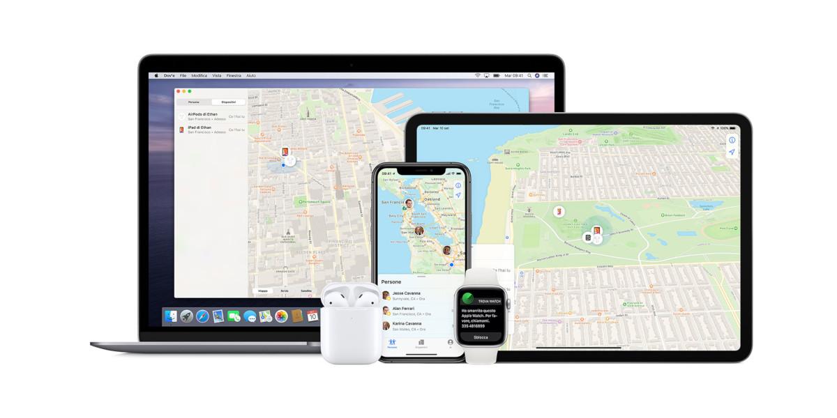 Apple estende la geolocalizzazione ai dispositivi di terze parti