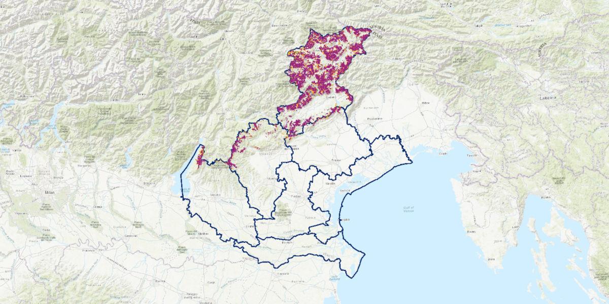 Arpav effettua la mappatura digitale dei siti a rischio valanghe del Veneto