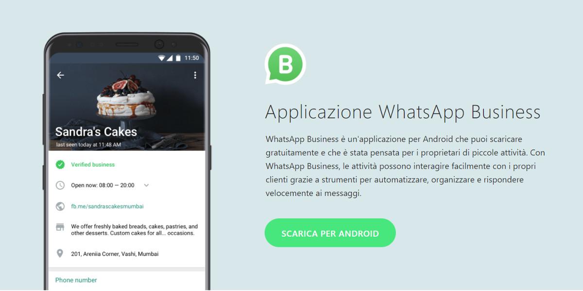 Arriva in Italia WhatsApp Business