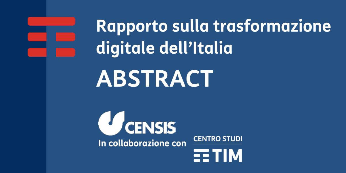 Censis e TIM presentano il rapporto sullo stato di trasformazione digitale dell'Italia