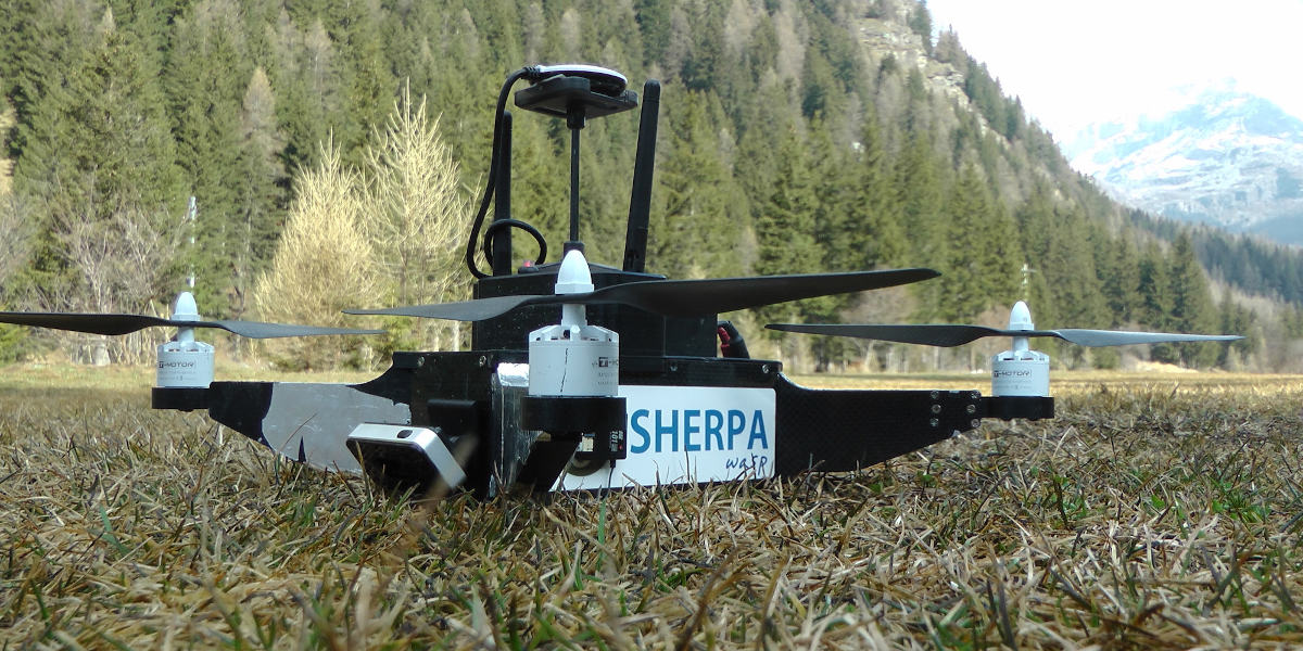 I droni del progetto europeo SHERPA in Valle d'Aosta per il soccorso alpino