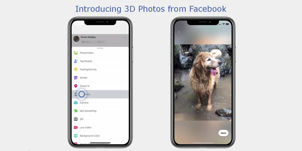 Facebook annuncia l'introduzione delle foto in 3D