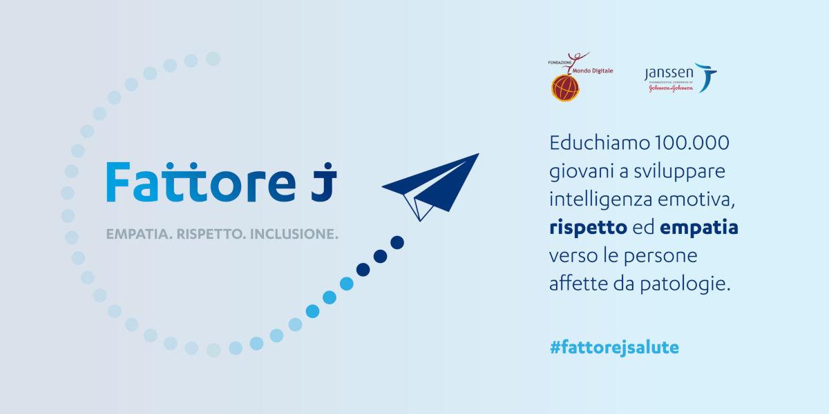 Fattore J, online l'iniziativa per lo sviluppo nei giovani dell'empatia verso le persone affette da malattie