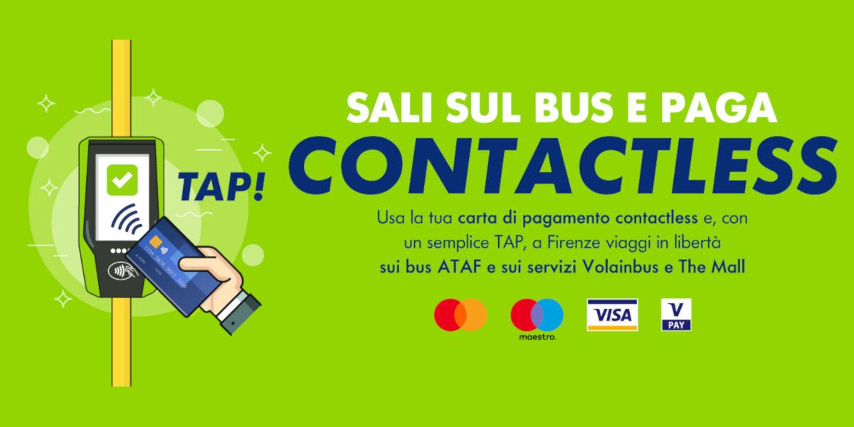 A Firenze il biglietto del bus è pagabile tramite modalità contactless