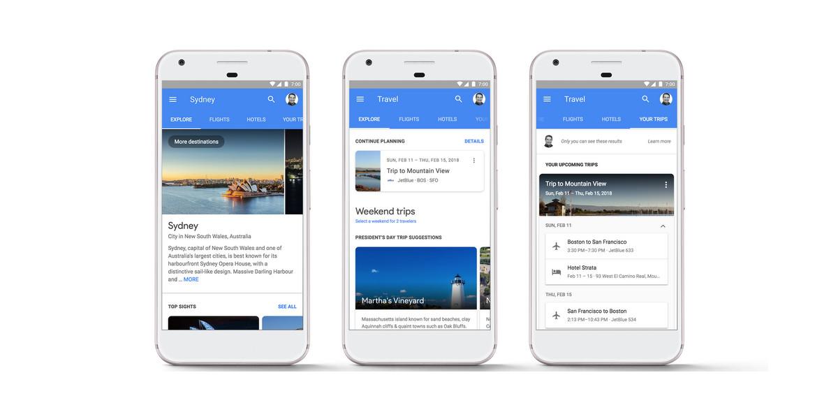 Google introduce la prenotazione dei viaggi dai risultati di ricerca