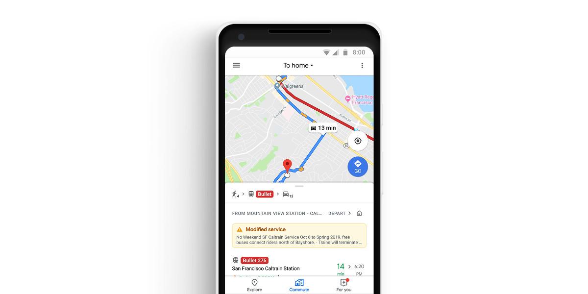 Google Maps introduce specifiche funzioni per i pendolari