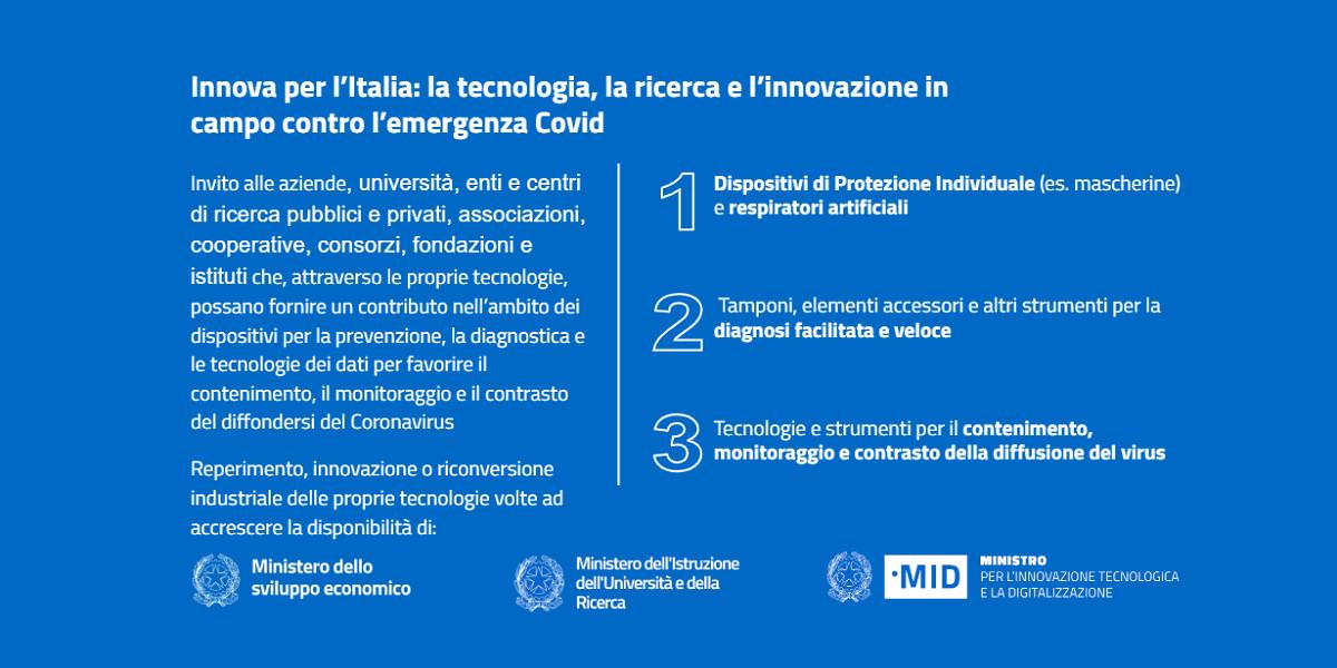 Innova per l'Italia, l'innovazione al servizio della crisi