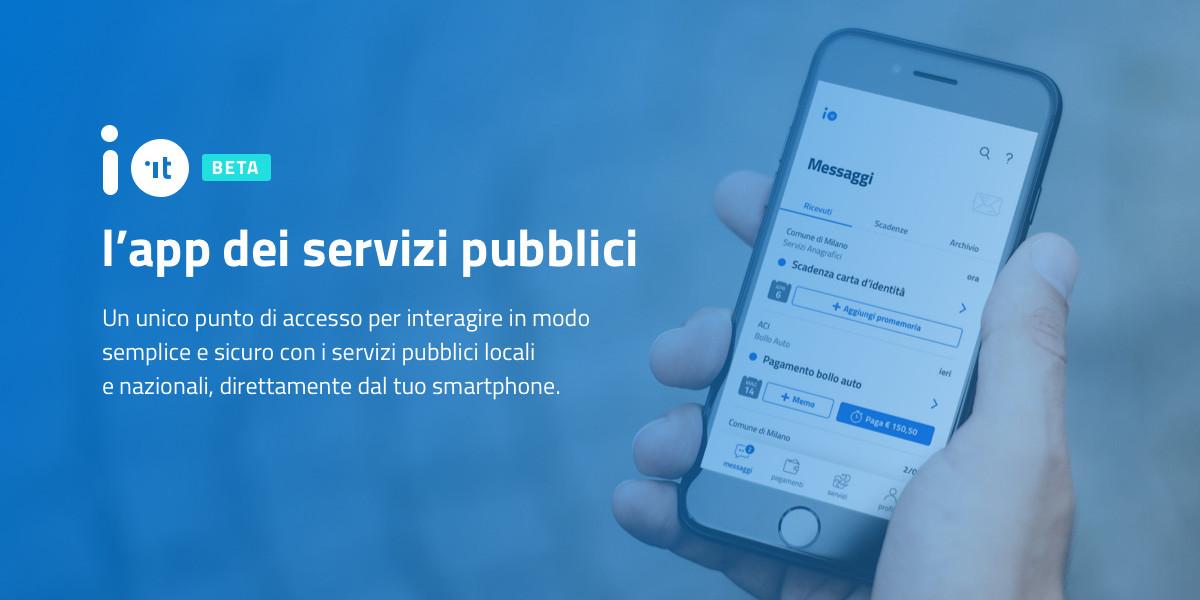 IO, disponibile l'app dei servizi pubblici