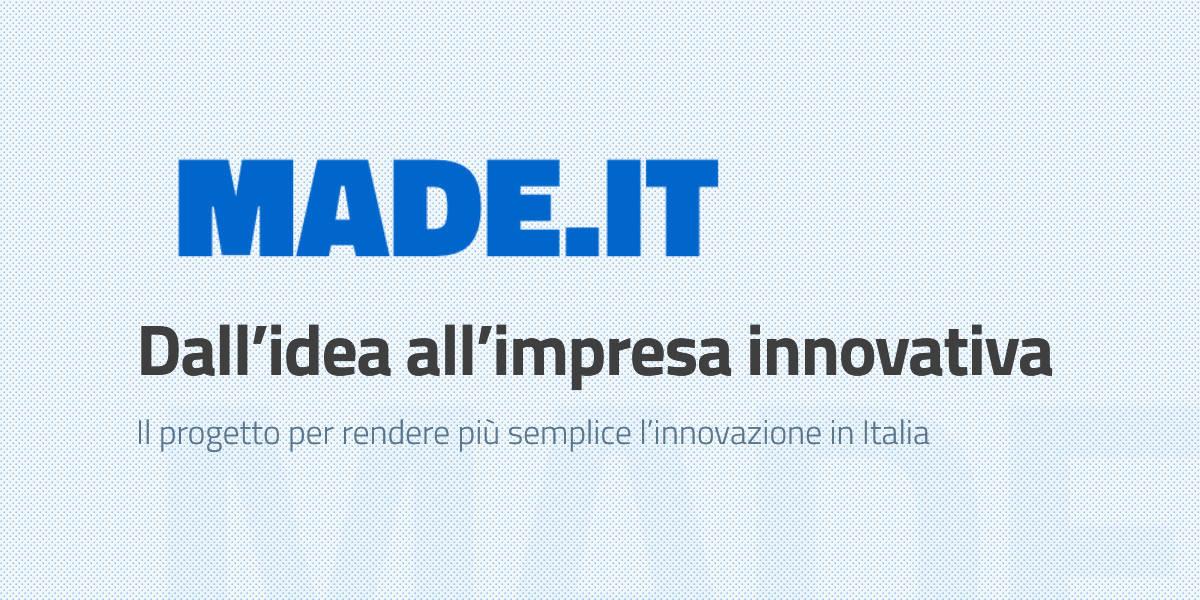 Made.IT, il progetto per rendere più semplice l'innovazione in Italia