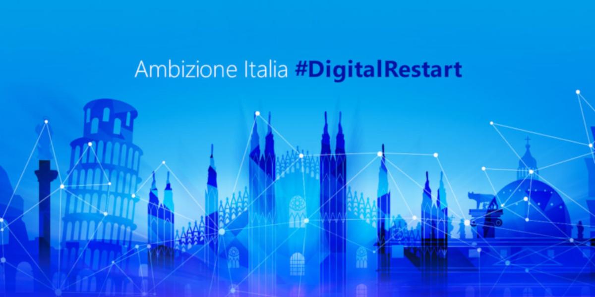 Microsoft lancia Ambizione Italia #DigitalRestart