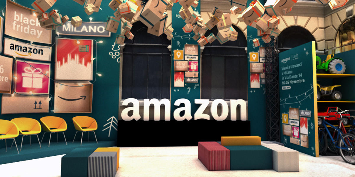 A Milano apre il temporary store di Amazon dedicato al Black Friday