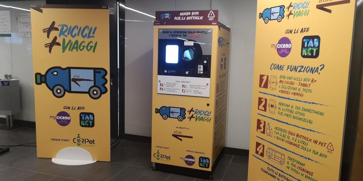 +Ricicli +Viaggi, a Roma il riciclo delle bottiglie di plastica garantisce un ecobonus per viaggiare sui mezzi pubblici