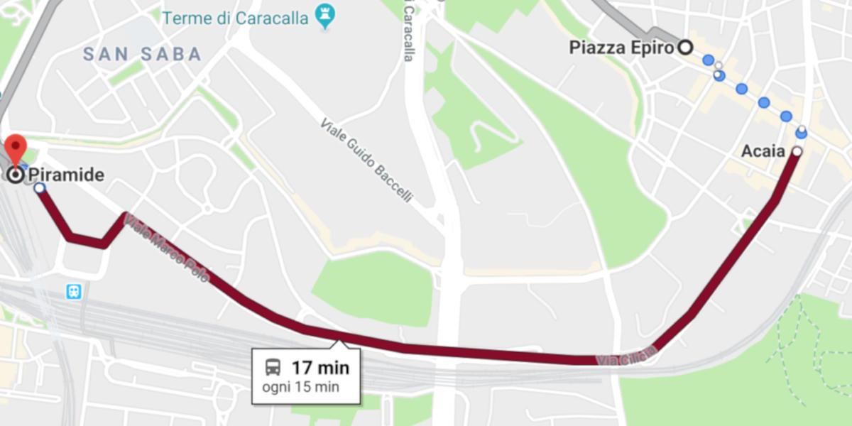 Roma, Google Maps mostra il transito in tempo reale degli autobus