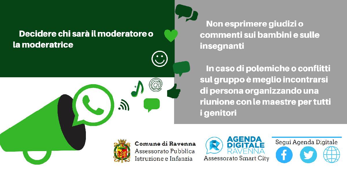 Scuola, il Comune di Ravenna pubblica un vademecum per un uso corretto dei gruppi di messaggistica istantanea