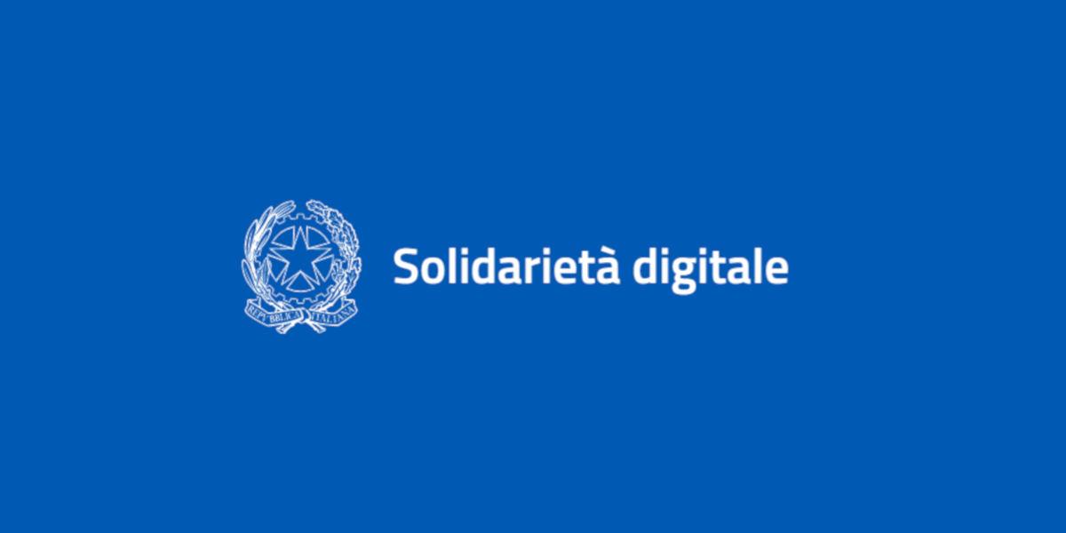 Solidarietà digitale, online i servizi digitali agevolati