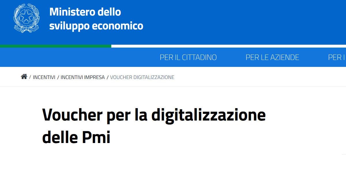 Voucher per la digitalizzazione, dal MiSE un contributo per l'innovazione