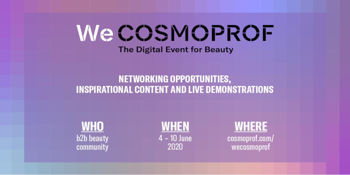WeCOSMOPROF, l'evento digitale dedicato al mondo dell'industria del beauty