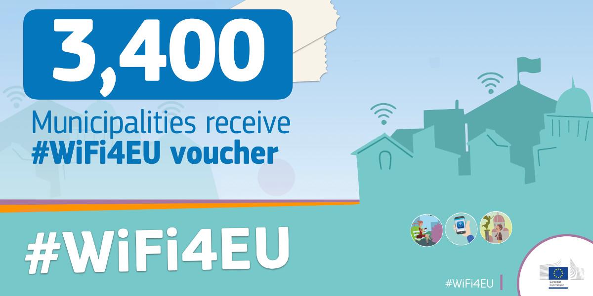 WiFi4EU, 510 Comuni italiani vincono il bando per il Wi-Fi pubblico